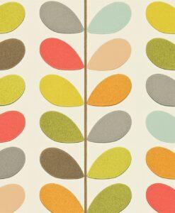 Multi Stem - Orla Kiely Wallpaper - Original colourway