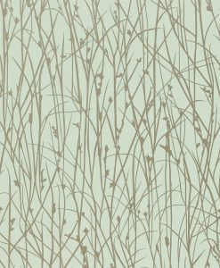 Grasses wallpaper from the Kallianthi Collection by Harlequin, in Opal and Pewter