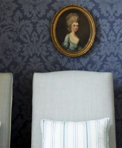 Versailles damask wallpaper by Zophany in Blue