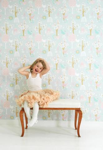Cheery Valley - Grey kids wallpaper