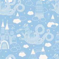 Dragon Sky - Light Blue - by Majvillan wallpaper