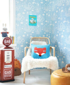 Dragon Sky - Light Blue kids wallpaper