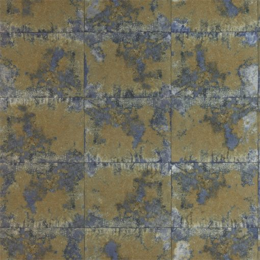 Harlequin Oxidise Saphhire Brass Anthology 03 Wallpaper