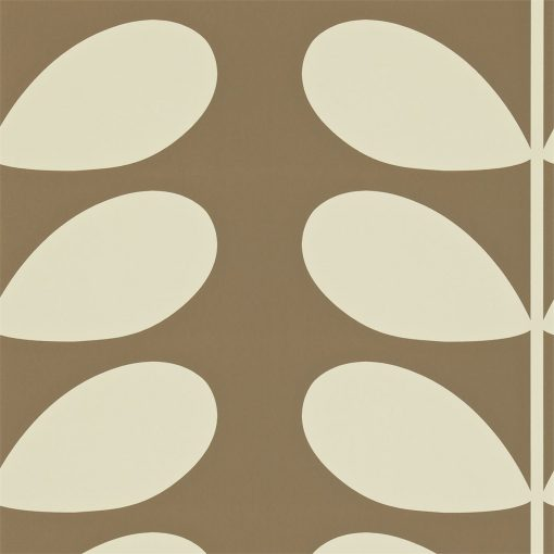 Giant Stem Wallpaper by Orla Kiely in Mole