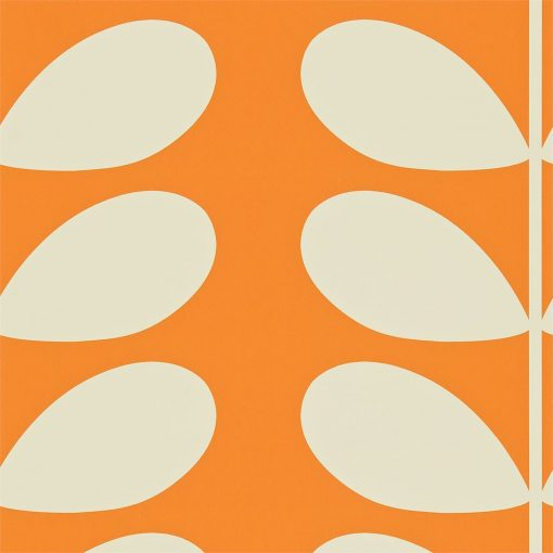 Giant Stem Wallpaper by Orla Kiely - Clementine