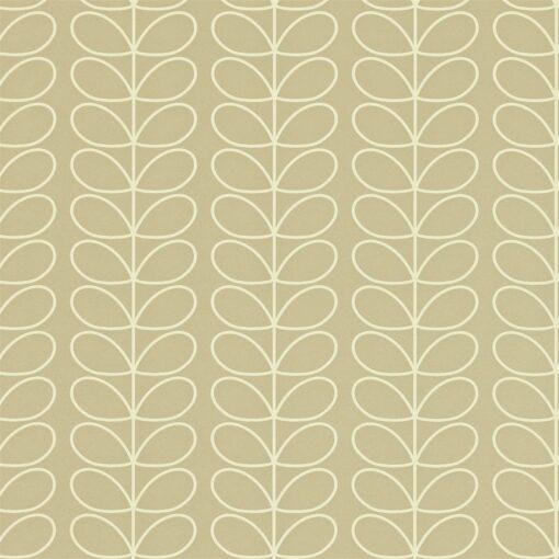 Linear Stem wallpaper by Orla Kiely - Stone