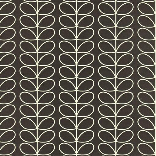 Linear Stem wallpaper by Orla Kiely - Graphite