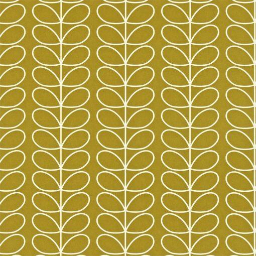 Linear Stem wallpaper by Orla Kiley - Olive