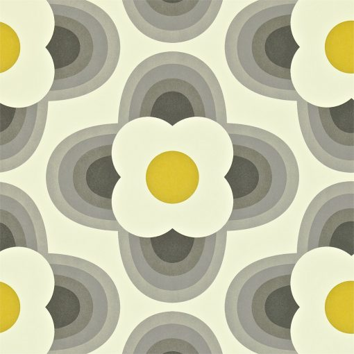 Orla Kiely Wallpapers - Striped Petal - Graphite