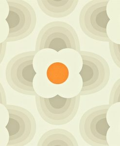 Orla Kiely Wallpapers - Striped Petal - Fog