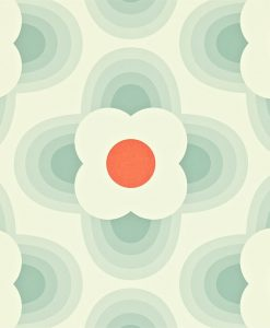 Orla Kiely Wallpapers - Striped Petal - Duck Egg