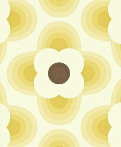 Orla Kiely Wallpapers - Striped Petal - Straw