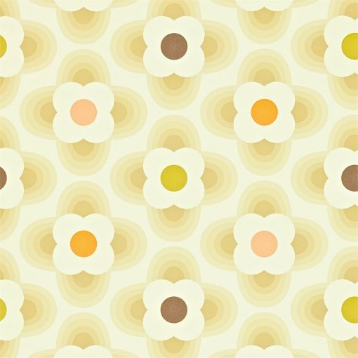 Multi Striped Petal Warm Calico - wallpaper by Orla Kiely