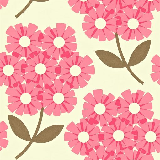 Giant Rhododendron wallpaper by Orla Kiely - Honeysuckle
