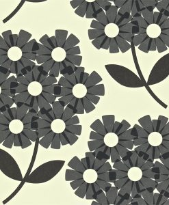 Giant Rhododendron wallpaper by Orla Kiely in Slate