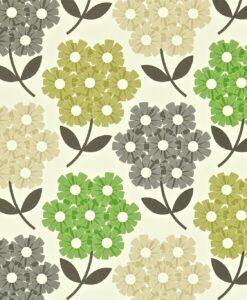 Rhododendron - Nettle - Orla Kiely Wallpaper