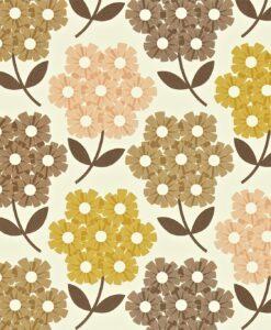 Rhododendron - Tea Rose - Orla Kiely Wallpaper