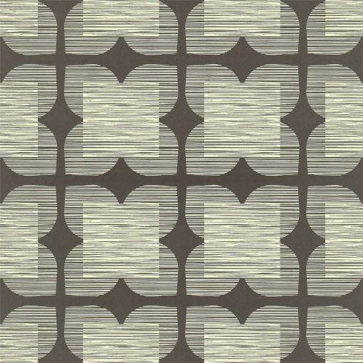 Flower Tile - Orla Kiely Wallpaper - Graphite