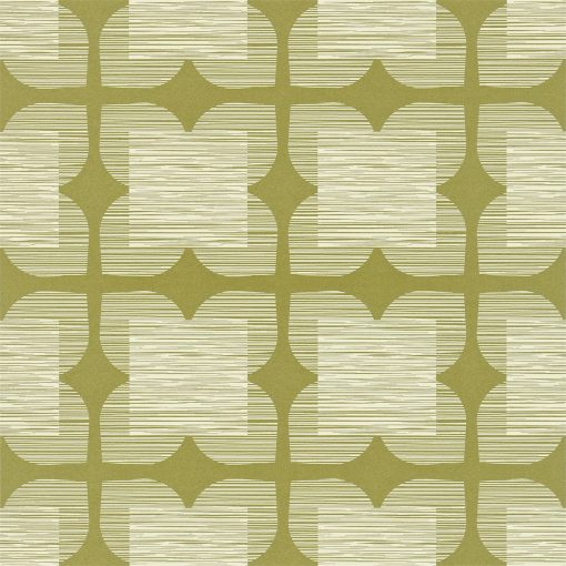 Flower Tile - Orla Kiely Wallpaper - Bay Leaf