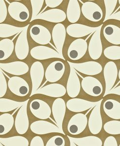 Orla Kiely wallpaper 110418 Acorn Spot Brown