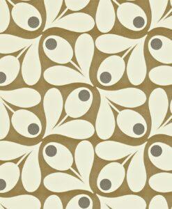 Orla Kiely wallpaper 110418 Acorn Spot Brown