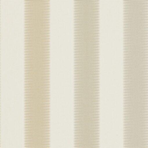 Tambo striped wallpaper - Gold, gilver and silver