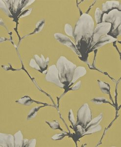 Momentum Wallcoverings 03 by Harlequin Wallpaper- Lotus in Mustard