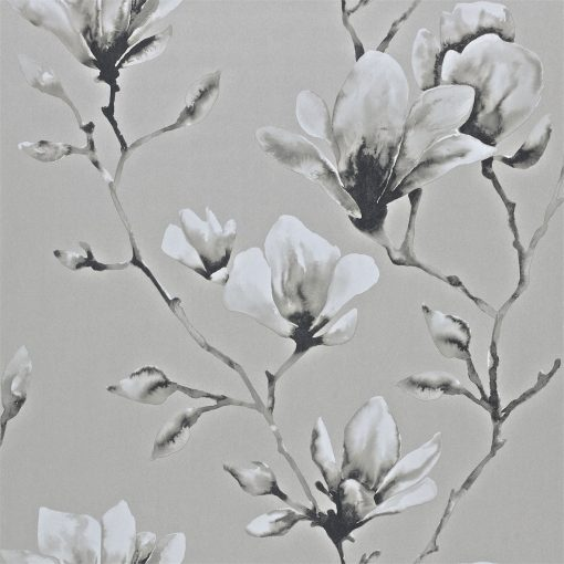 Momentum Wallcoverings 03 by Harlequin Wallpaper- Lotus in Silver