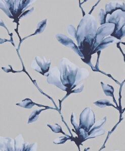 Momentum Wallcoverings 03 by Harlequin Wallpaper- Lotus in Indigo