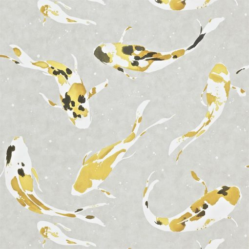 Momentum Wallcoverings 03 by Harlequin Wallpaper- Koi in Saffron