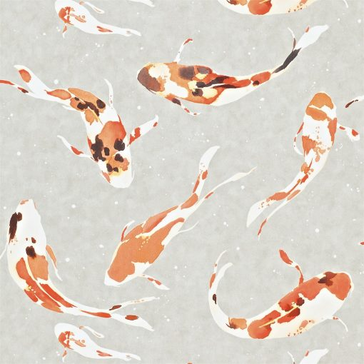 Momentum Wallcoverings 03 by Harlequin Wallpaper- Koi in Paprika