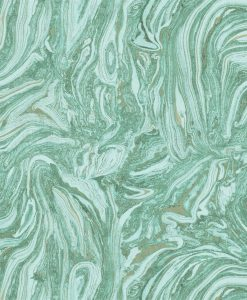 Momentum Wallcoverings 03 by Harlequin Wallpaper- Makrana in Emerald