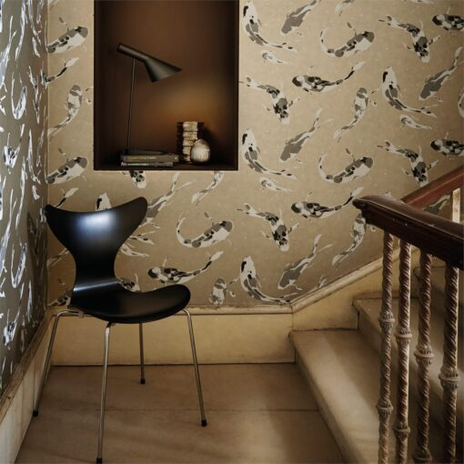 Momentum Wallcoverings 03 by Harlequin Wallpaper- Koi in Metal