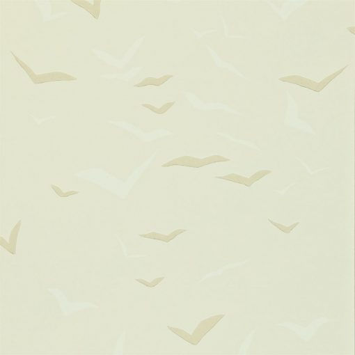 Flight wallpaper in Linen, Chalk and Gull. Part of the Melinki Collection by Scio