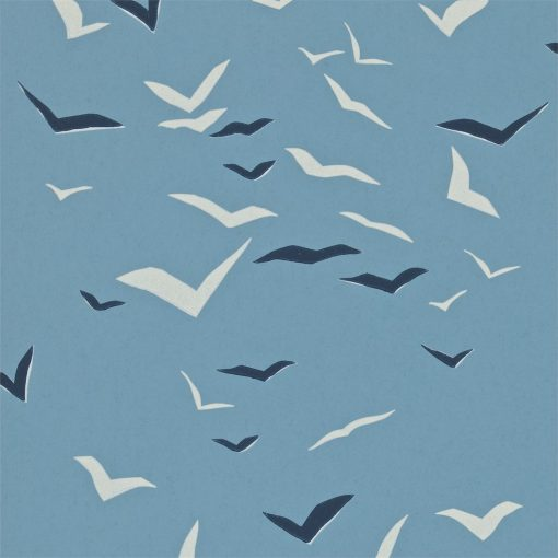 Flight wallpaper in Denim, Indigo and Chalk. Part of the Melinki Collection by Scio