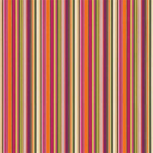 Strata wallpaper in Fuchsia, Tangerine, Lime and Plum. Part of the Melinki Collection by Scio