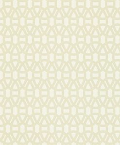 Lace wallpaper in Chalk and Hessian. Part of the Melinki Collection by Scio