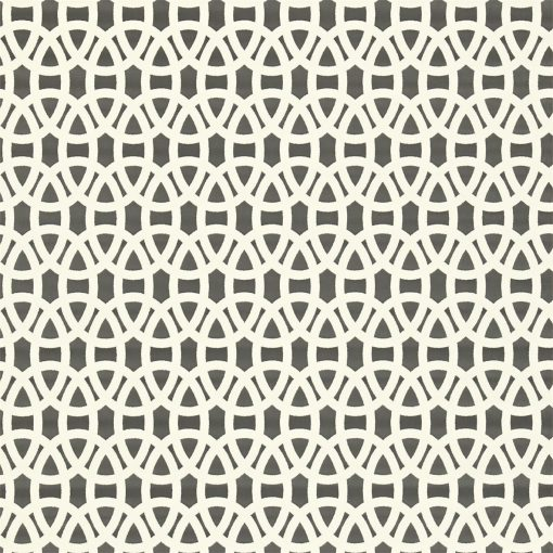 Lace wallpaper in Onyx and Chalk. Part of the Melinki Collection by Scio