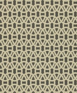 Lace wallpaper in Pewter and Hemp. Part of the Melinki Collection by Scio