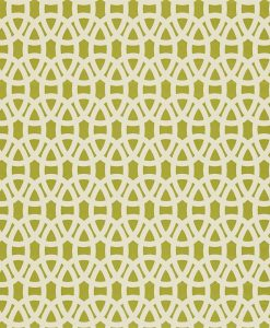 Lace wallpaper in Olive and Neutral. Part of the Melinki Collection by Scio