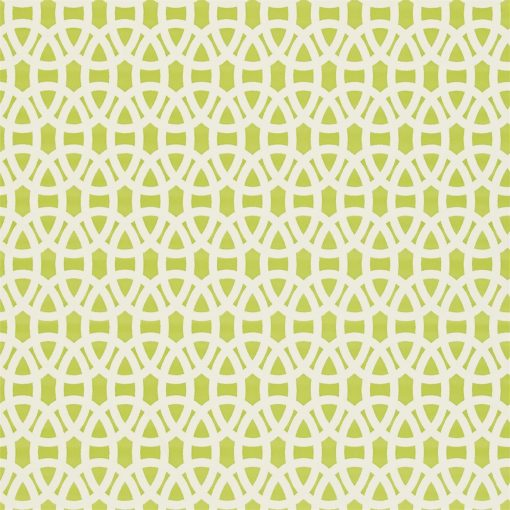 Lace wallpaper in Lime and Chalk. Part of the Melinki Collection by Scio