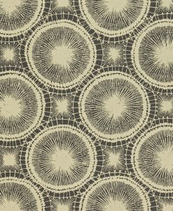 Tree Circles wallpaper from the Melinki Collection by Scion in Pewter & Hemp