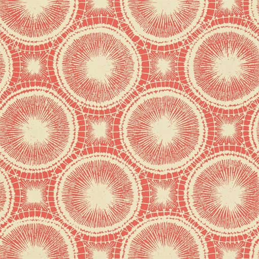 Tree Circles wallpaper from the Melinki Collection by Scion in Pimento & Champagne