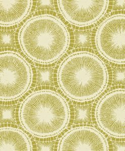 Tree Circles wallpaper from the Melinki Collection by Scion in Thyme & Champagne