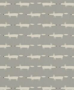 Little Fox wallpaper in Silver