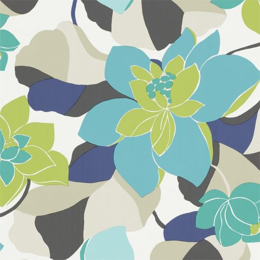Diva wallpaper by Scion in Acid/Kingfisher