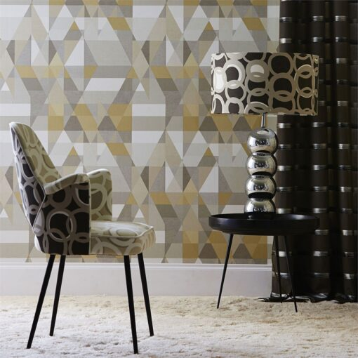 Axis wallpaper by Scion in Pebble/Hemp/Mouse