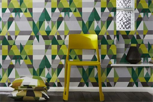 Axis wallpaper by Scion in Acid/Slate/Moss