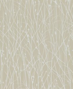 Grasses wallpaper from the Kallianthi Collection by Harlequin, in Natural and White