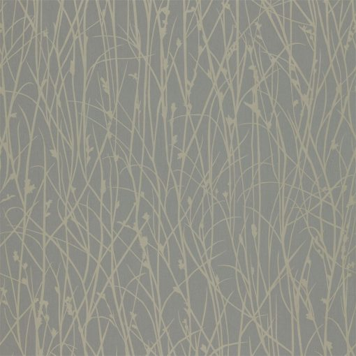 Grasses wallpaper from the Kallianthi Collection by Harlequin, in Steel and Pewter